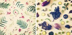 Julie Lee food collage duo: fresh patterns #photography #fruits #food #vegetable