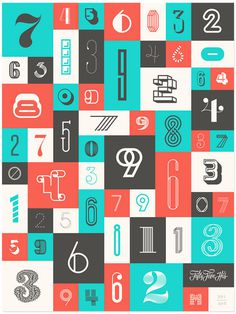 Numbers Poster #numbers #type