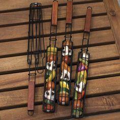 Non-Stick Single Kabob Baskets #tech #flow #gadget #gift #ideas #cool