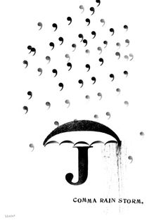 MAZZOTTI BOOKS : : :: ::: :::::::::blog #comma #typographic #rain #storm #poster #typography
