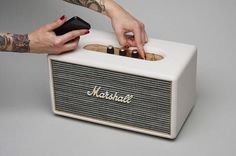 Marshall Bluetooth Speaker #tech #flow #gadget #gift #ideas #cool