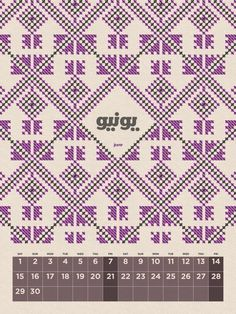 2013 Calendar Egypt on the Behance Network #patterns