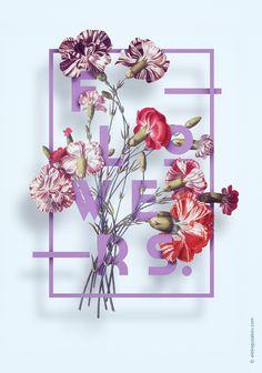 Flowers. by Aleksandr Gusakov #flower #flowers #illustration #typography #plant #botany #botanical