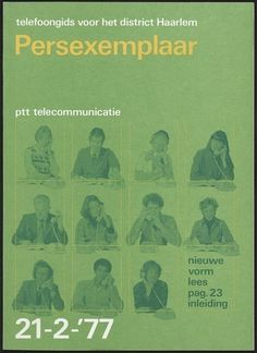 PTT telecommunicatie cover by Wim Crouwel #cover #design #graphic