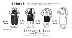 Stanley & Sons #aprons