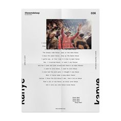 "Lukas 🏴 on Instagram: ""🏴 day 036 @kanyewest #loremdeloop #daily ・ ・ #dailyposter #design #daily #365days #designer #designers #d"
