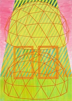 Double+Dome_small.jpg (image) #art #abstract #painting #stripes #dome #canvas #dan bina #geodesic