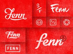 Fenn_dribbble_lrg #typography #logo #branding
