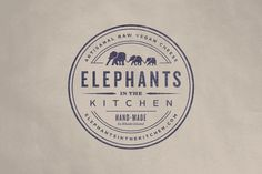 Elephants in the Kitchen on Behance #logo