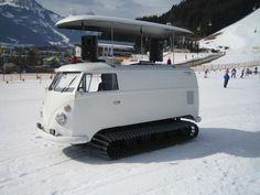 van2 Snow tracks from VW van photo