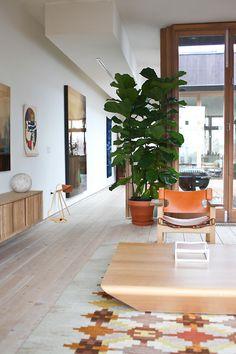 tumblr_n6l16ysZJs1qiz04po1_500.jpg (500×750) #rug #sideboard #geometric #plant