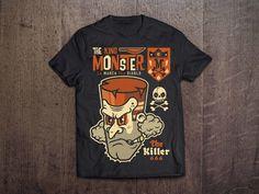 THE KING MONSTER 666 on Behance #vector #black #shirt #devil #illustration #wood #poster #monster #666 #killer