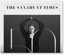 Non-Format - The Sanahunt Times – 1 #layout #non format #broadsheet