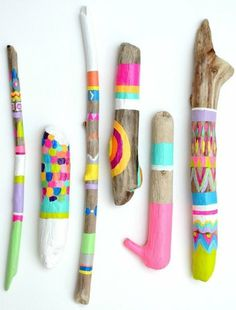 neon spirit stcks #wood #colours
