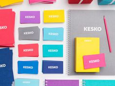 Kesko | BONOS #business #card #colorful #kesko #stationery #notebook