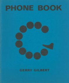Phone Book by Gerry Gilbert #cover #blue #phone #book