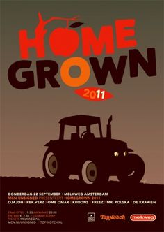 GigPosters.com - Ojajoh - Per.verz - Ome Omar - Kroons - Freez - Mr. Polska - De Kraaien #homegrown #tractor #poster #40rovers
