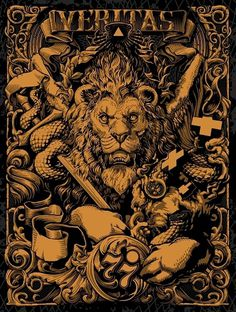 veritas.jpg (800×1060) #poster #lion #art