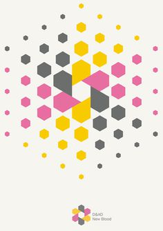 D&AD #branding #poster #geometric #pattern #hexagon