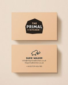The Primal Kitchen — Midday #card #print #business #stationery