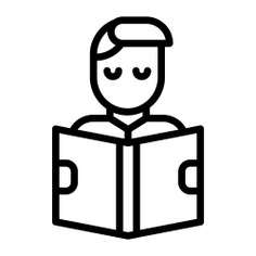 See more icon inspiration related to student, book, usr, studying, study, learning, education, reading, library and people on Flaticon.