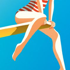 Malika Favre #simple #bright #illustration #french