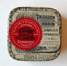 FFFFOUND! | Vintage Packaging: Typewriter Tins - TheDieline.com - Package Design Blog #packaging #vintage
