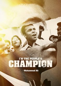 I'm the people's Champion - Muhammad Ali by: Sedki Alimam #champion #clay #muhammad #ali