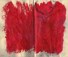 Hi deer :) - Skimothy #reindeer #paper #painting
