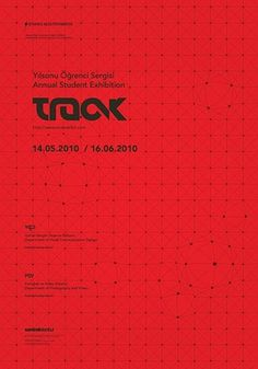 FFFFOUND! | Track 09 Exhibit Posters on the Behance Network #type #logo #poster #matrix