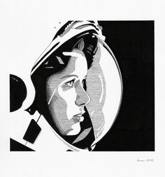 Image of 'Anna Lee Fisher' Giclee Print #ink #on #illustration #art #paper