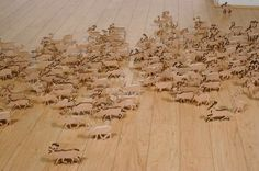 Colossal | An art and design blog. #animals #wood #installation