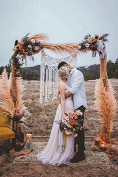If you're planning boho wedding look through our gallery. We have collected brilliant bohemian wedding decorations ideas for bright celebration!