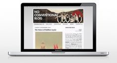 NO CONVENTIONAL BLOG on the Behance Network #christianconlh #web #blog