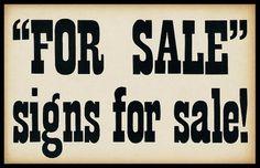forsale150-2.jpeg 680×440 bildpunkter #sign #type #vintage #advertising