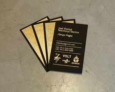 Grupo Vegas business cards by Campo #card #stamp #business #foil