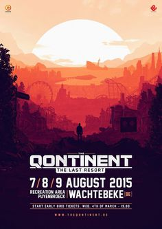 The Qontinent by French Toast #illustration #warm #poster #sunset