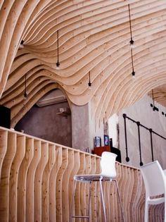 Dezeen » Blog Archive » Zmianatematu by xm3 #xm3 #shop #zmianatematu #wood #architecture #bar #coffee