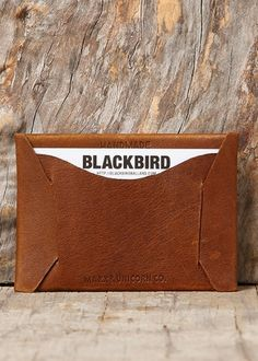 Blackbird - Maxx + Unicorn - Cardholder in Vintage Brown #seamless #leather