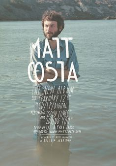 Matt Costa Poster #type #hand drawn