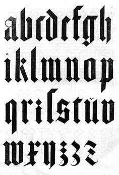 but does it float #letterform #blackletter #typography