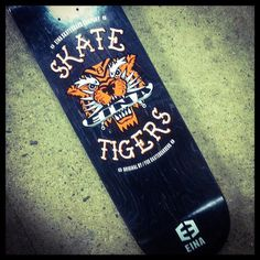 skate tigers by http://www.einaskateco.com #skateboard #graphics #screenprinting #eina
