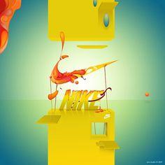 Aviv Studio™ #luis #design #tel #digital #illustration #nike #aviv #art #mahasesen #torres #miguel