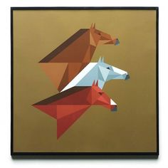 Rob Bailey #horses #rob #bailey #geometric #brown #giclee