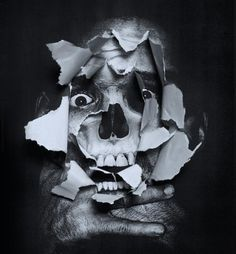FFFFOUND! | Brand Nouveau #white #black #and #skull #collage
