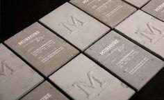 Concrete business cards | Murmure | feel desain #business card #inspiration #card #concrete #businesscard