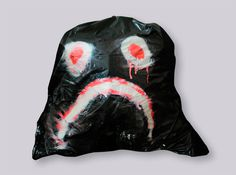 Trash Mask #fluo #black #art #bag #plastic