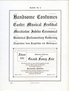 Miller and Richard's Black No. 2 type specimen