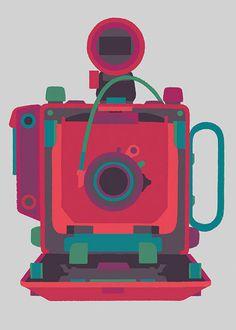 Basilicas print series by Adrian Johnson celebrates classic cameras #illustration #camera