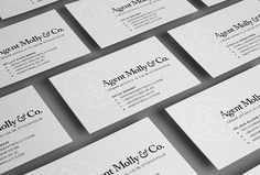 Agent Molly & Co by Twenty-Five Art House #business cards #branding